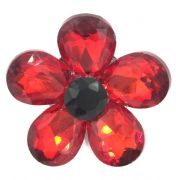 Luxury glass remembrance poppy Brooches - make your own poppy brooch